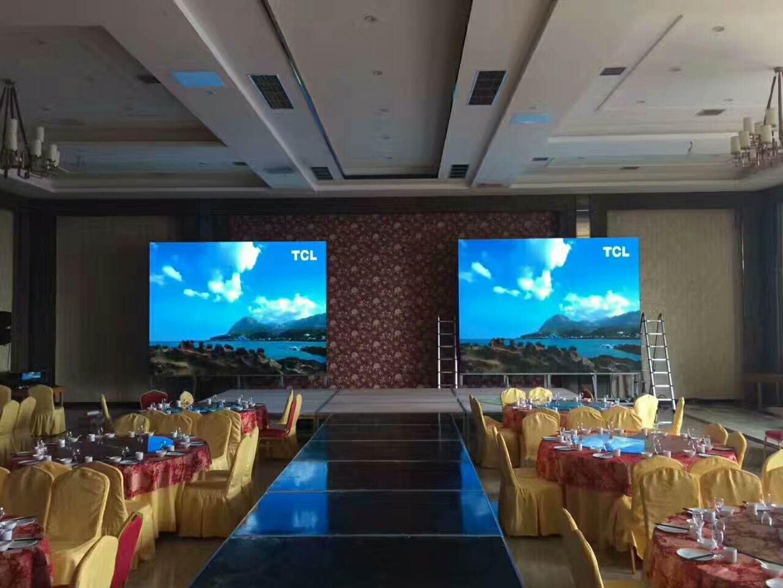 山东某酒店会议室2块小屏安装调试完毕
