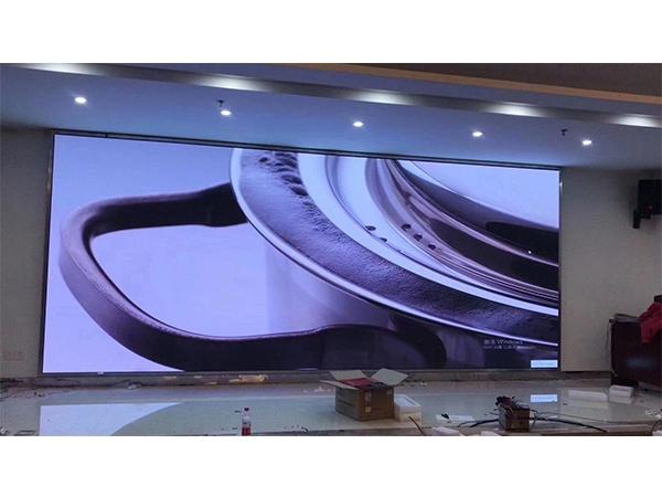 山东建筑大学室内全彩led显示屏案例