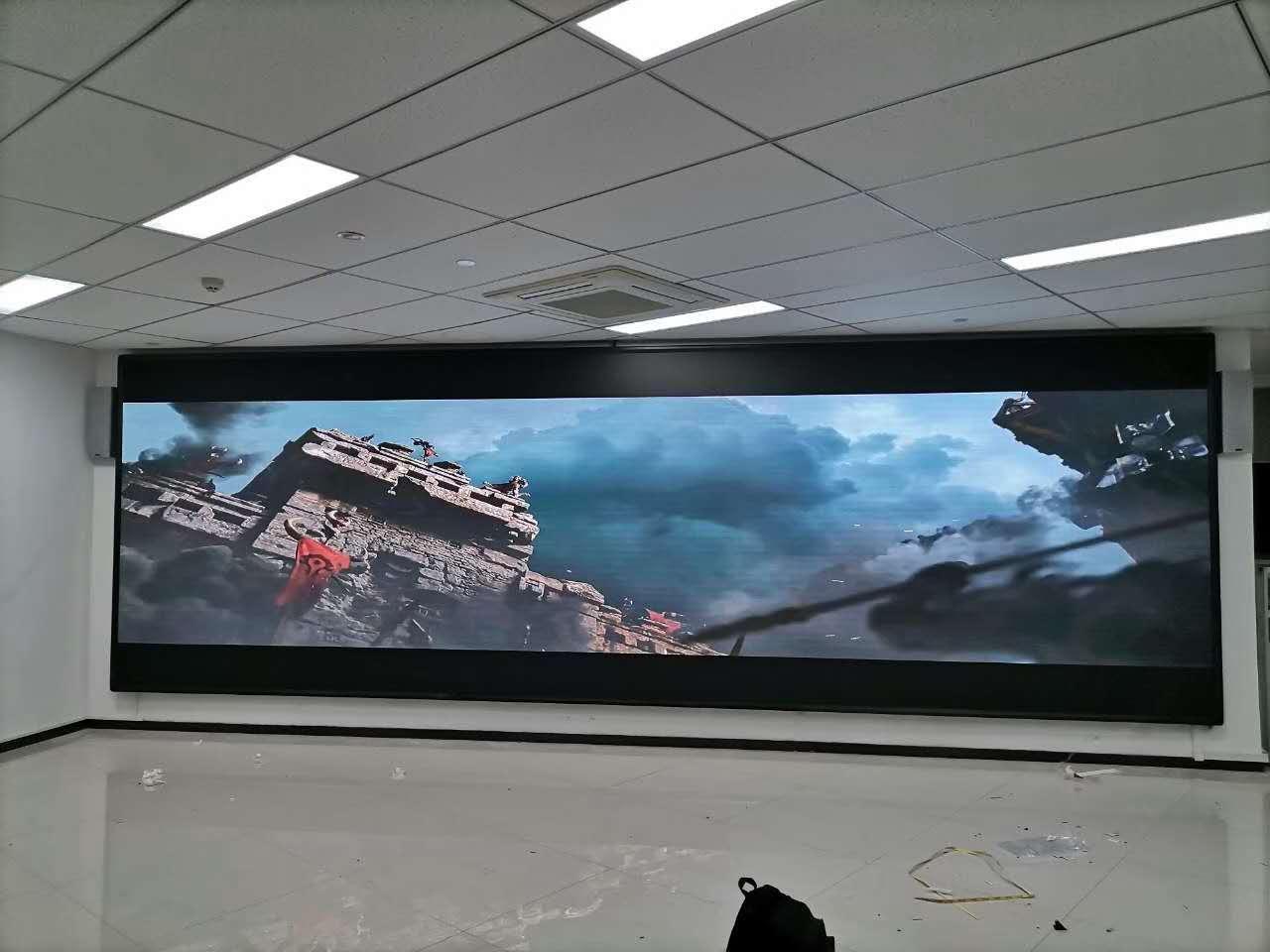 银行室内会议室超高清小间距led全彩显示屏案例