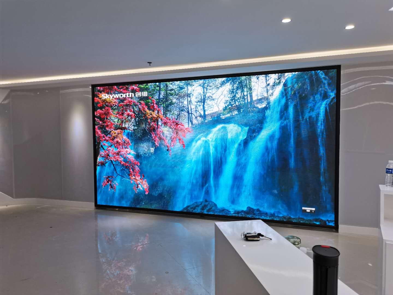 山东青岛科技产业化AI开放服务基地室内展厅P2.5led电子大屏案例