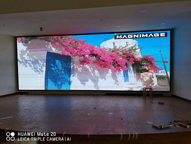 青岛火车站室内p3全彩LED电子屏幕(18平方)青岛